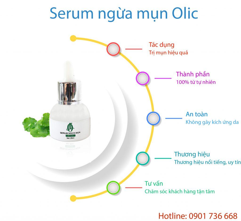 Serum ngừa mụn Olic