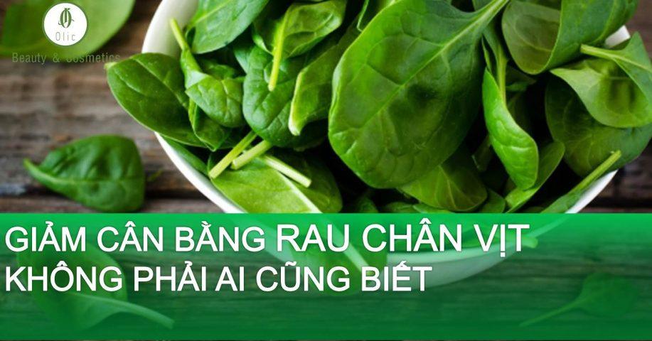giảm cân bằng rau chân vịt