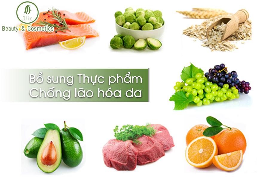bổ sung thực phẩm chống lão da