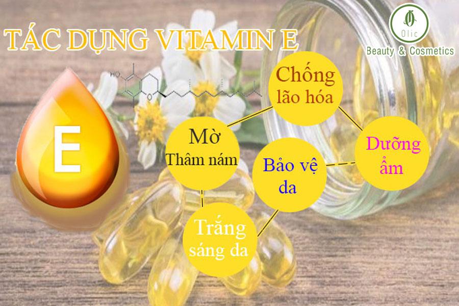 tác dụng của vitamin e với làn da